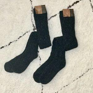 Tall ANGORA WOOL Knit Thigh High Socks (2 pairs)
